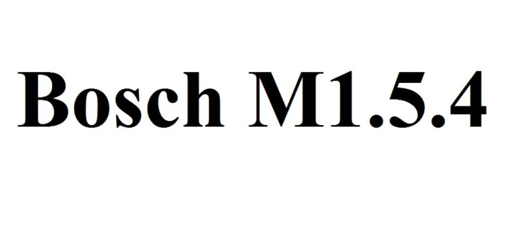 Серийные прошивки Bosch M 1.5.4