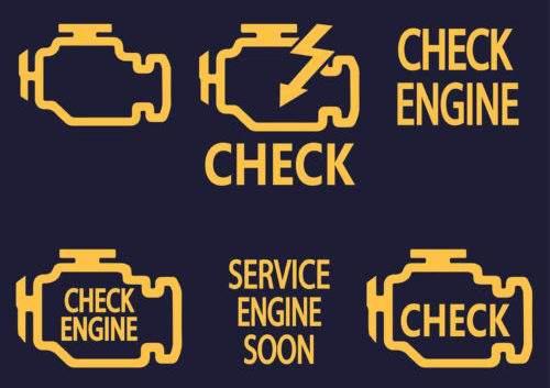 значки check engine