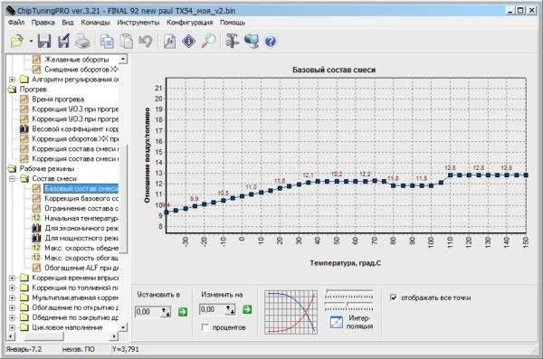 Окно программы chiptuning pro 3.21
