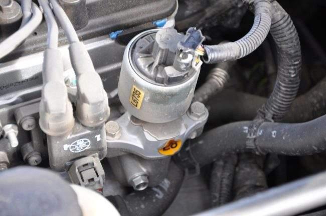 установленный клапан egr