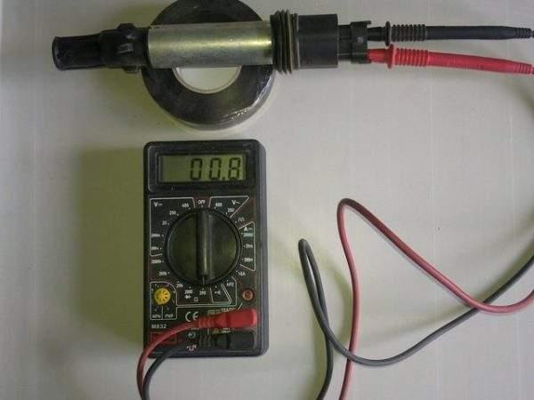 измерение сопротивления первичной обмотки катушки зажигания