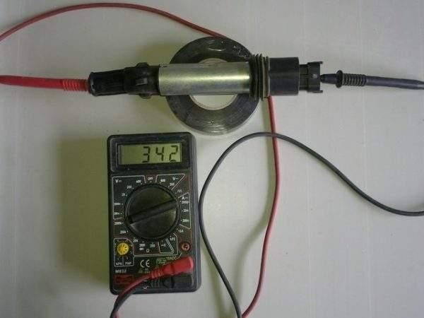 измерение сопротивления вторичной обмотки катушки зажигания