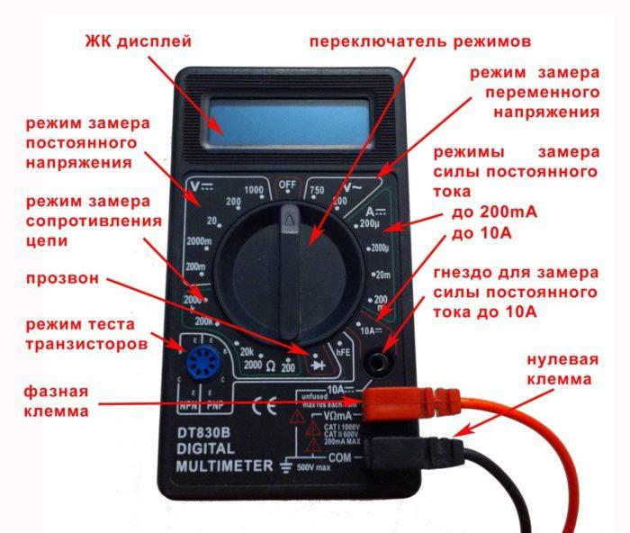 описание функций мультиметра
