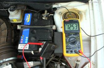 проверка напряжения на аккумуляторе