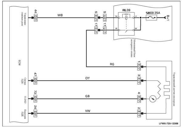 схема датчика кислорода