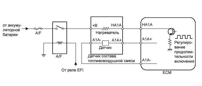 схема подключения датчика кислорода