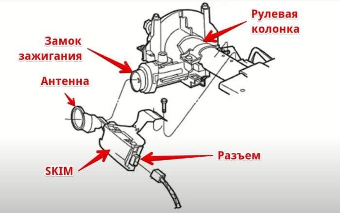 Схема установки SKIM